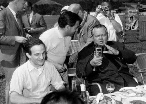 François Truffaut con Orson Welles en el Festival de Cannes 1966.