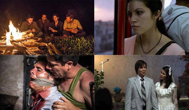Arriba: Solos y Rosa Chumbe. Abajo: Magallanes y La última noticia