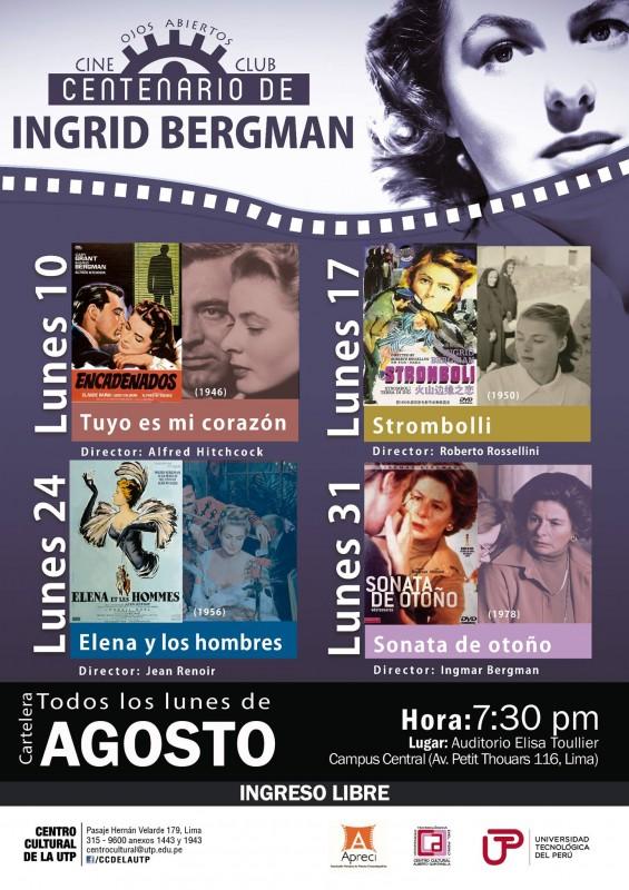 Ciclo Ingrid Bergman en la UTP