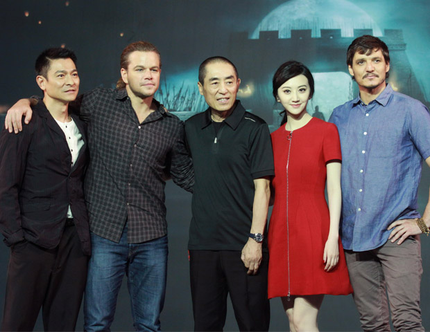 Conferencia en Beijing de The Great Wall .- Matt Damon, ZHANG Yimou, JING Tian, y Andy LAU