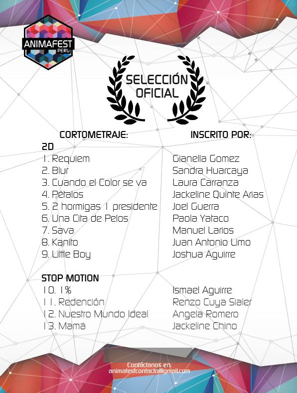 AnimaFest Peru - seleccion oficial