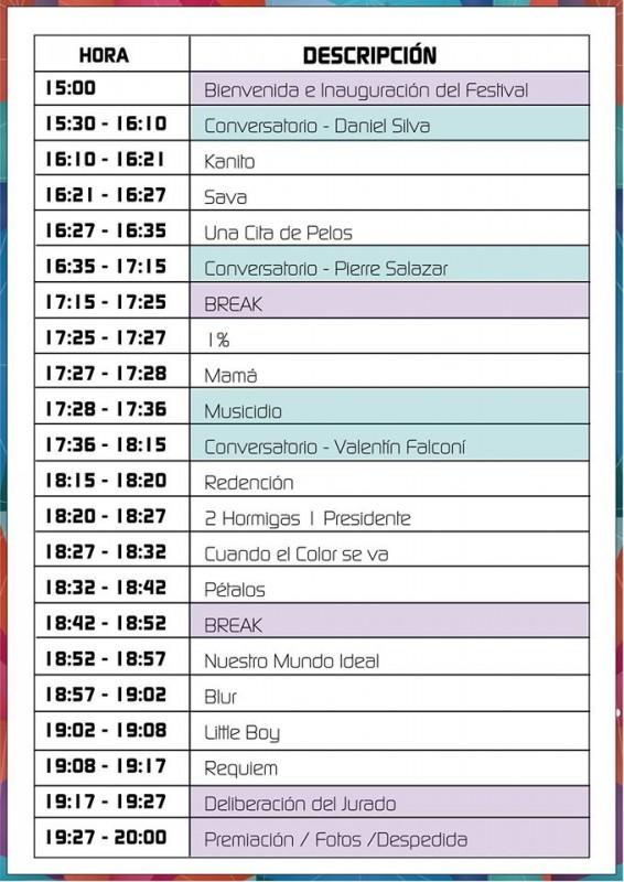 Horario Animafest
