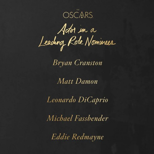 Premios Oscar 2016 Actor Leading