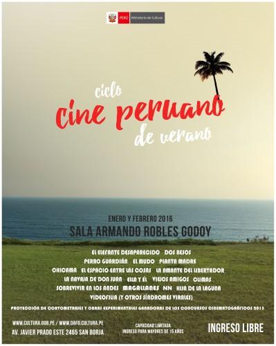 ciclo Cine peruano verano afiche