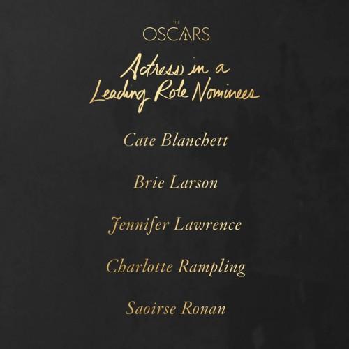 Premios Oscar 2016 Mejor actriz