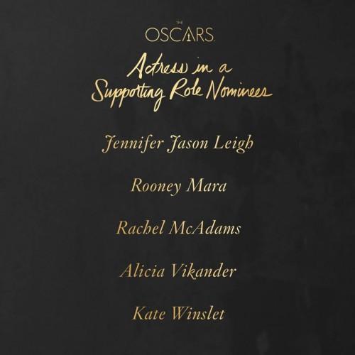 Premios Oscar 2016 Mejor actriz de reparto