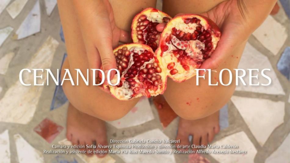 Cenando flores, de Gabriela Concha