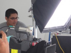 Josue Mendez filmando Dioses
