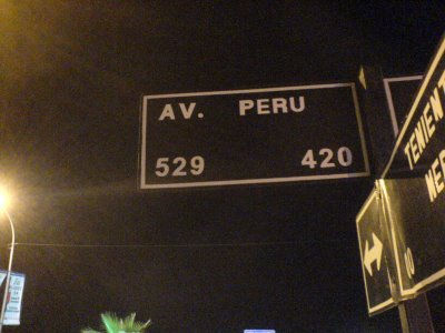 Av Peru en Chile