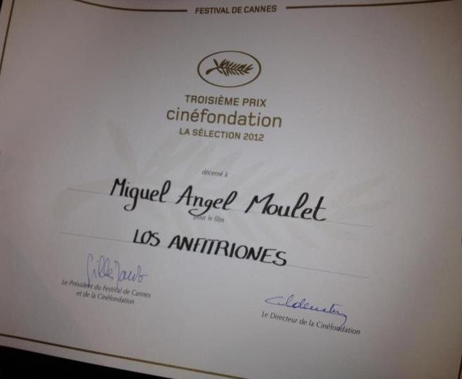 Premio Cannes, Cinefondation para Los anfitriones del peruano Miguel Angel Moulet