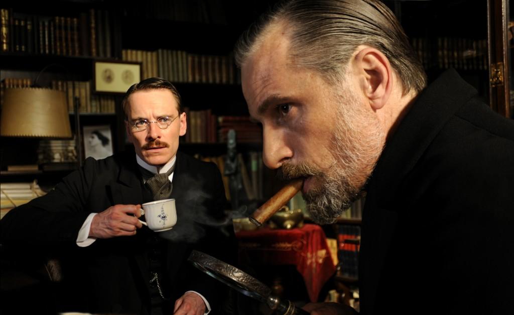 Michael Fassbender y Viggo Mortensen. Carl Gustav Jung y Sigmund Freud