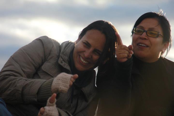Enrica Pérez con 'Pinky' Campos, productora