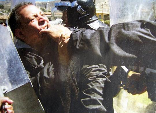 Marco Arana - represion en Conga