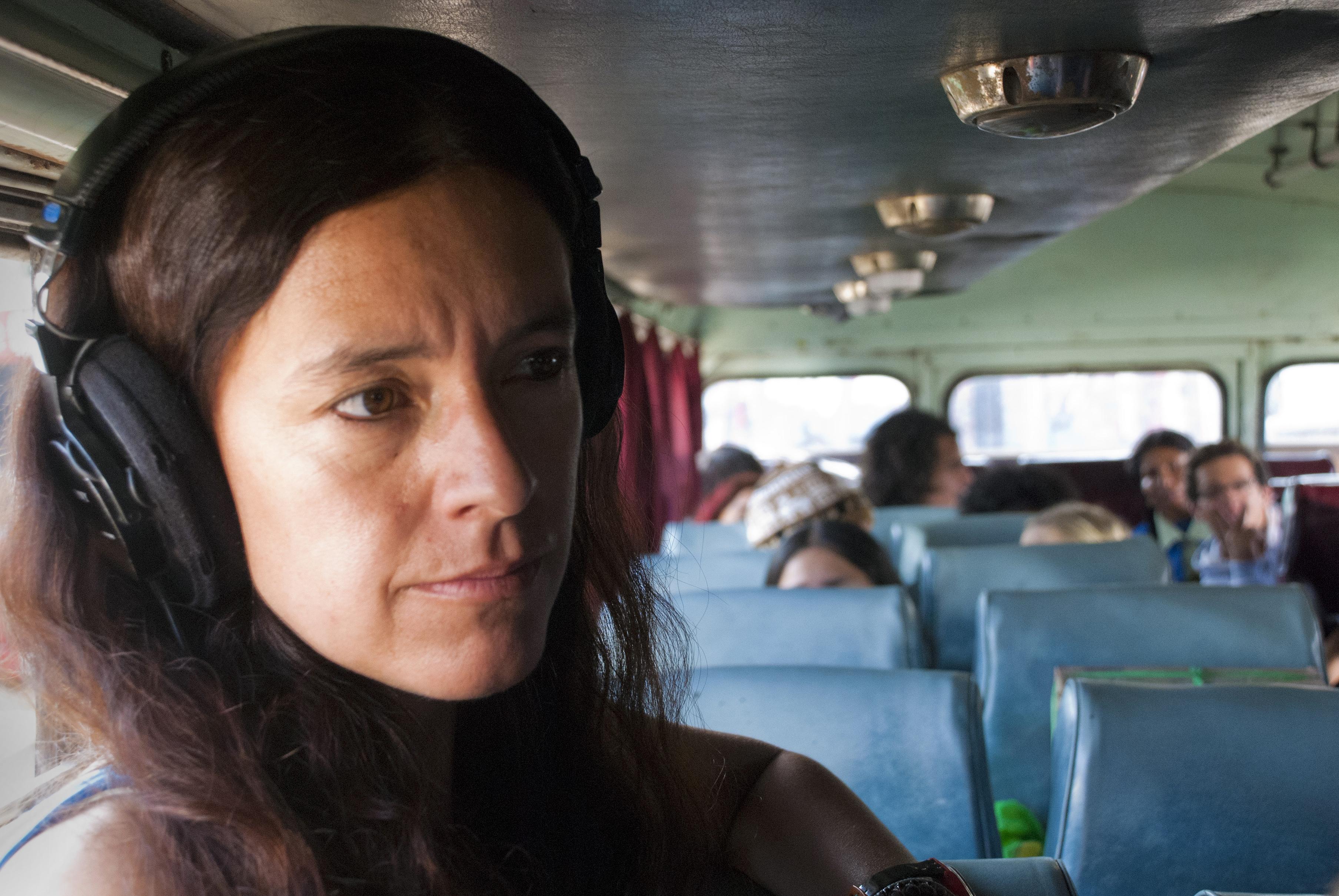 Rossana Diaz en rodaje de Viaje a Tombuctu