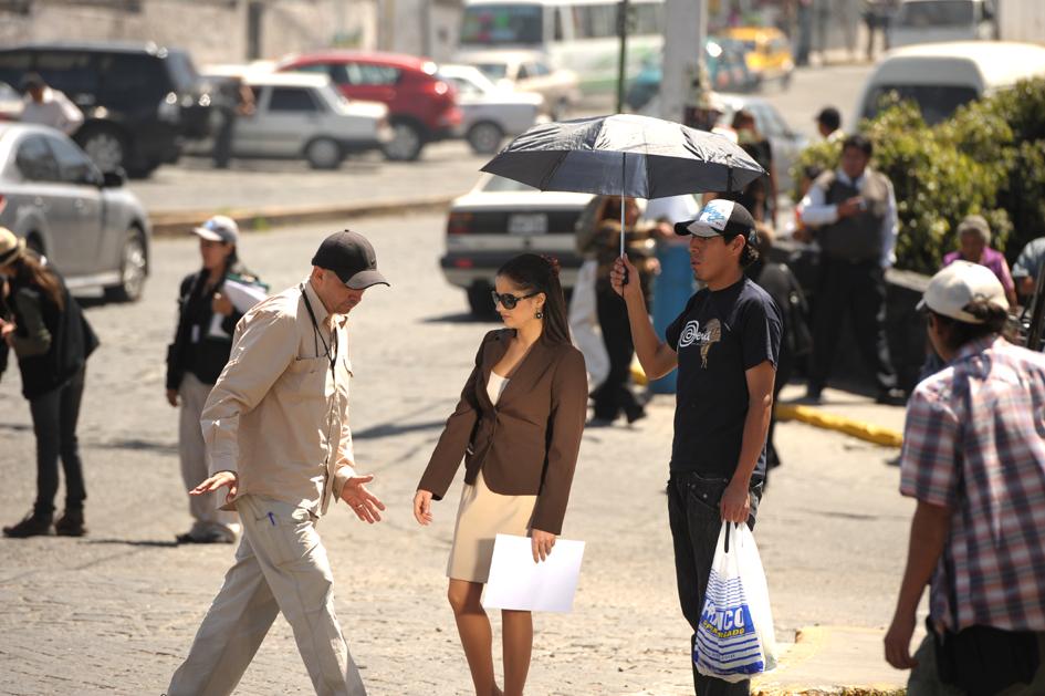 Rodaje de Encadenados: Miguel Barreda y Melania Urbina