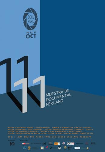 11 Muestra Documental Peruano, afiche