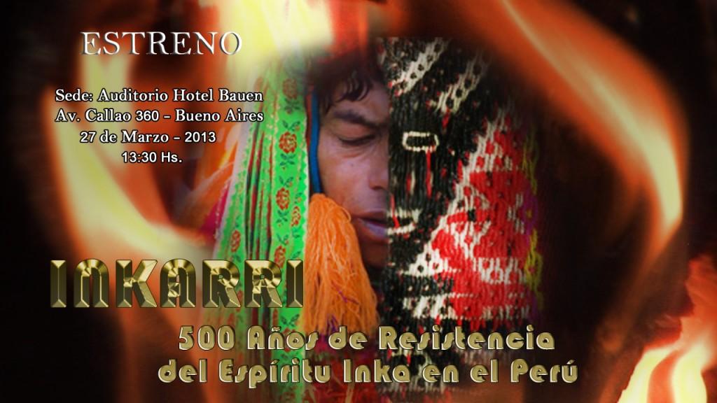 Afiche estreno documental Inkarri