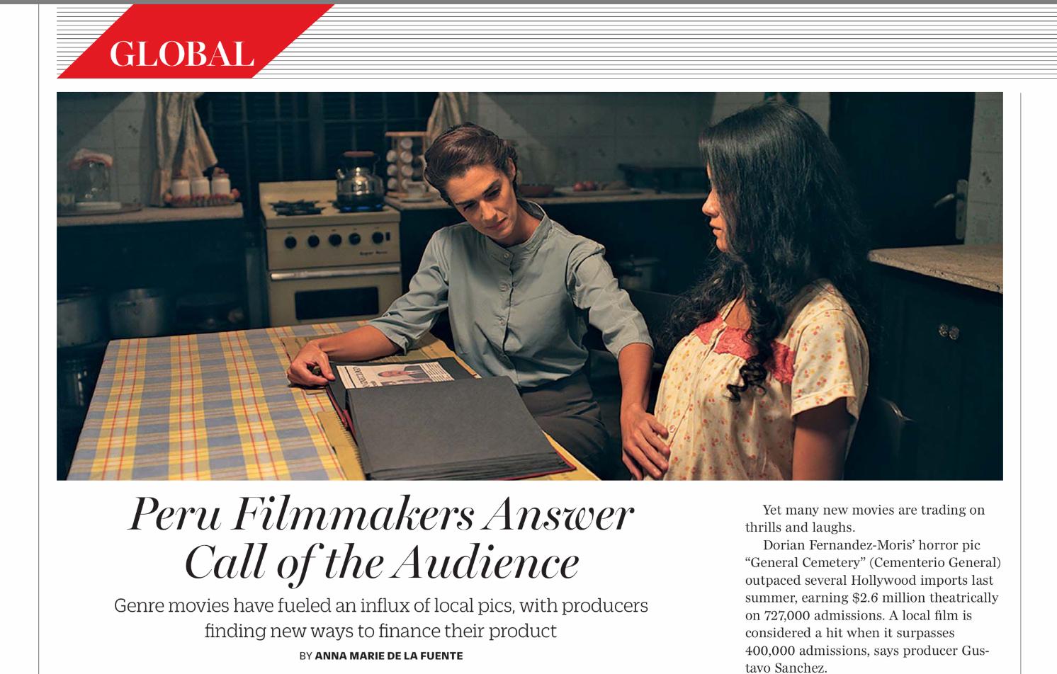 Cine Peruano en revista Variety, abril 2014