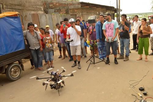 Llegaron los drones al cine peruano.