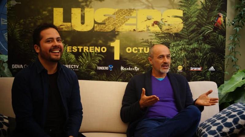 Miguel Valladares y Carlos Alcántara, productor y protagonista de 'Lusers'.