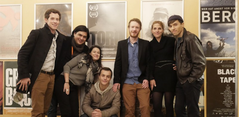De izquierda a derecha: Brendan Uffelmann (Director de Fotografia), Martin Hawie (Direcion, Guion), Laura Harwarth (Guion y Produccion) Paul Wollin( Actor Principal-TORO) Felix Geiger (Sound Design) Suzan Erentok (Actriz secundaria), Christian Wagner(Actor secundario)