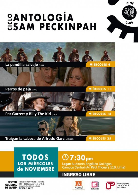 Antología de Sam Peckinpah en Cineclub UTP