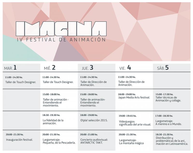 4 Festival Imagina - Programacion