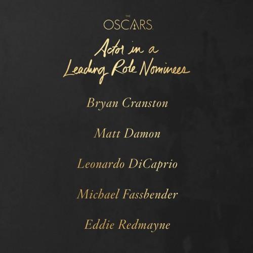 Premios Oscar 2016 Actor Leading