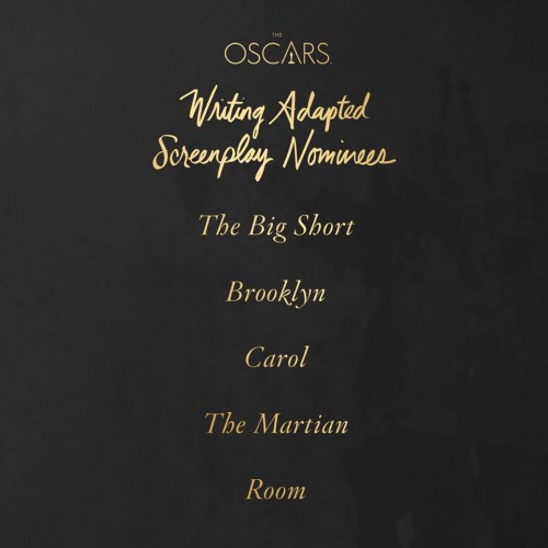 Premios Oscar 2016 Guion adaptado