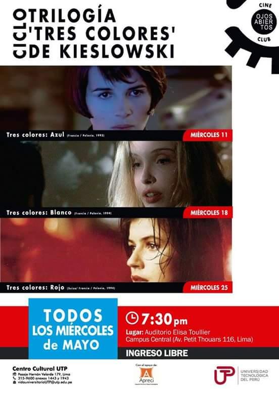 Programa Mayo Cineclub UTP
